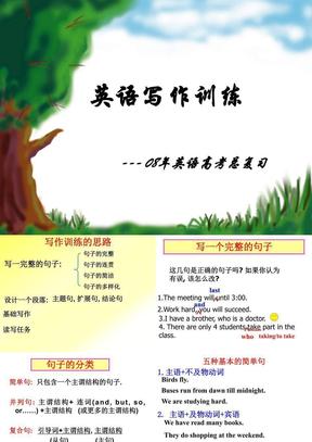 2008年广东省高三英语科写作资料(基础写作,读写任务)课件.ppt