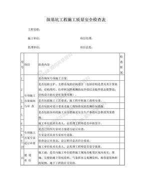深基坑工程施工质量安全检查表.doc