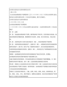 山东省农村集体资产管理条例.doc