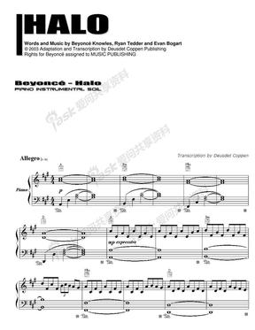 Beyonce-Halo钢琴谱.pdf