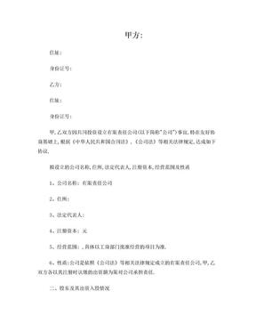 合伙人股权分配协议.doc