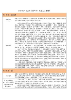 """吴秀莲2017届""""马云乡村教师奖""""候选人自述材料-(1).doc"""