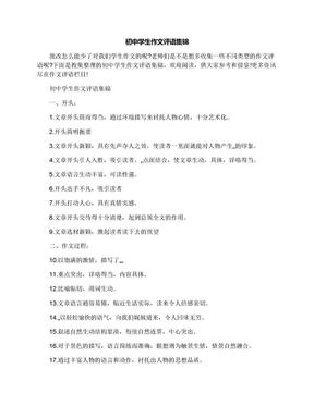 初中学生作文评语集锦.docx