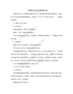 护理人员分层培训计划.doc