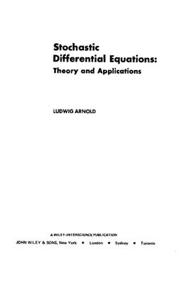 随机微分方程理论与应用(英文版-Ludwig Arnold).pdf