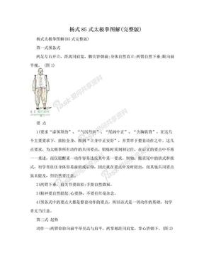 杨式85式太极拳图解(完整版).doc