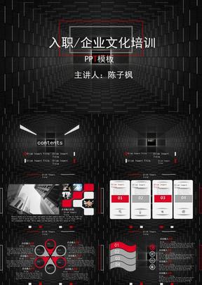 黑色-简约风-入职 企业培训PPT模板.pptx