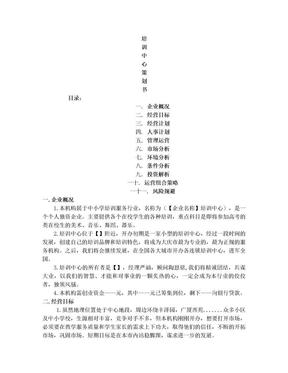 培训中心经营策划书.doc