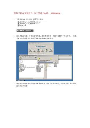 黑莓手机内安装软件.doc