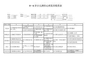 整理版0~6岁小儿神经心理发育检查表.doc