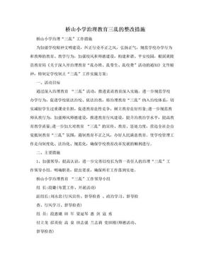 桥山小学治理教育三乱的整改措施.doc
