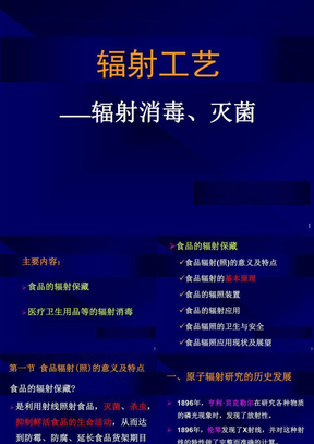 核技术应用及进展(4辐射工艺).ppt