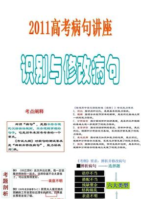 2011语文病句专项训练.ppt