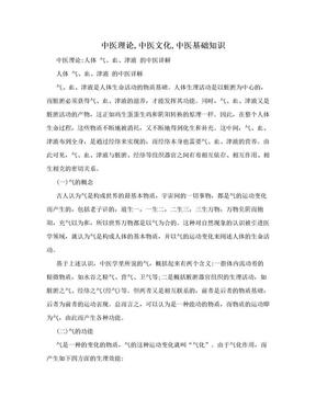 中医理论,中医文化,中医基础知识.doc