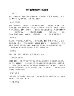 2015优秀教师应聘个人简历表格.docx