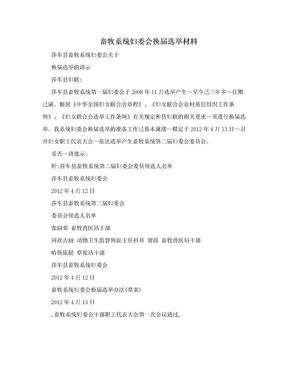畜牧系统妇委会换届选举材料.doc