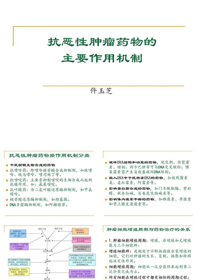 抗肿瘤药物分类及作用机制.ppt