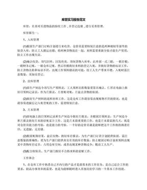 库管实习报告范文.docx