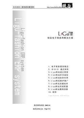 电子商务类网站策划方桉书.doc