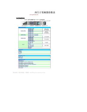西门子变频器价格表.doc