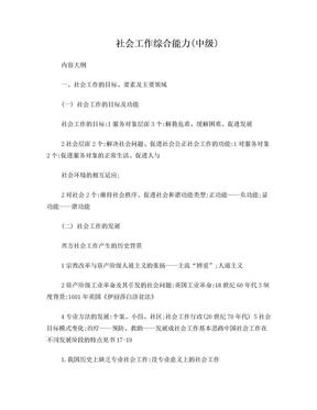 社会工作综合能力(中级).doc
