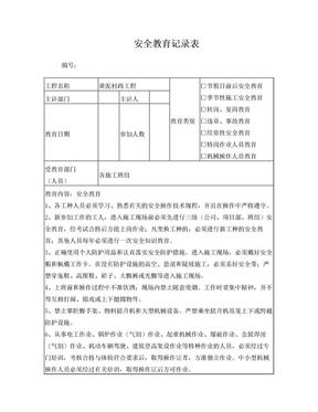 建筑施工安全教育记录内容.doc