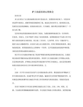 护士岗前培训心得体会.doc