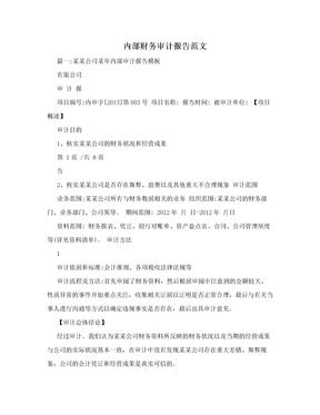 内部财务审计报告范文.doc