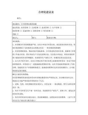 公司合理化建议.doc