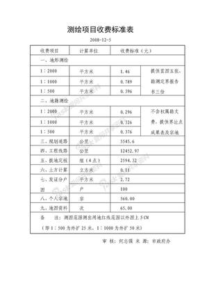 测绘项目收费标准表.doc
