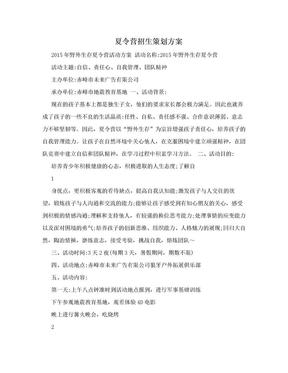 夏令营招生策划方案.doc