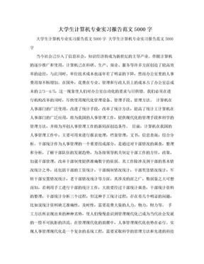 大学生计算机专业实习报告范文5000字.doc