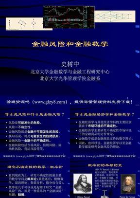 金融风险与金融数学课件(北京大学).ppt