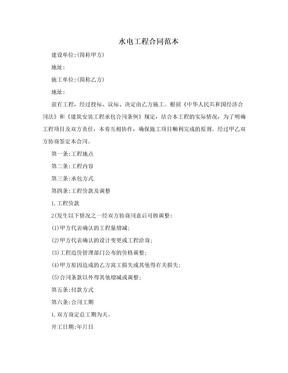 水电工程合同范本.doc