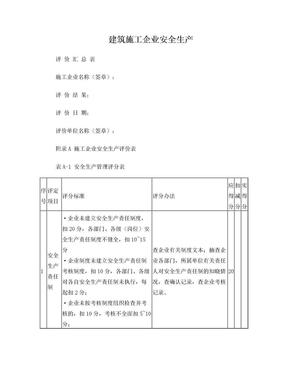 建筑施工企业安全生产评价汇总表.doc