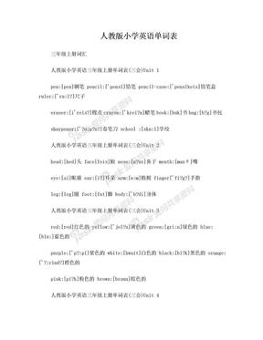 人教版小学英语单词表.doc