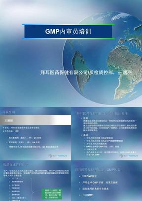 GMP内审员培训  拜耳医药公司.ppt