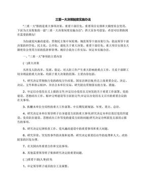 三重一大决策制度实施办法.docx