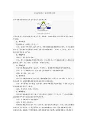 室内装修污染治理方法.doc