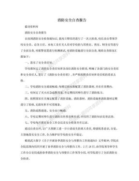 消防安全自查报告.doc