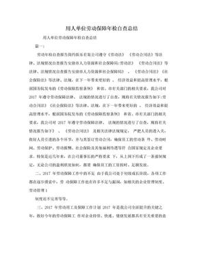 用人单位劳动保障年检自查总结.doc