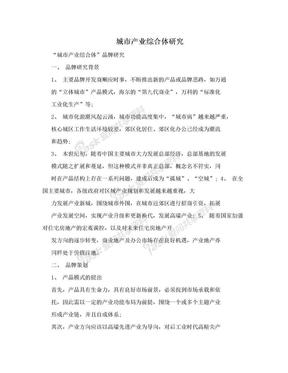 城市产业综合体研究.doc