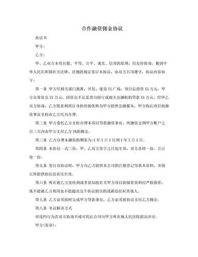 合作融资佣金协议.doc