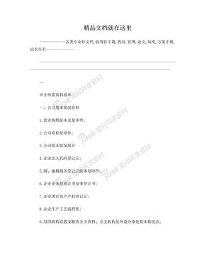 国有企业年报审计资料清单.doc
