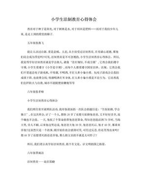 小学生法制教育心得体会.doc