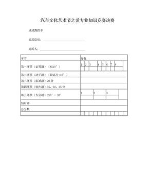 汽车文化艺术节之爱专业知识竞赛决赛.doc
