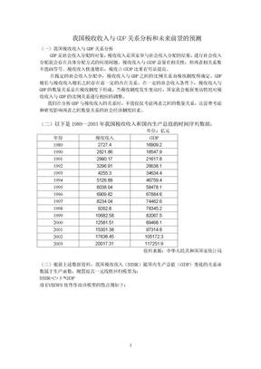 计量经济学 税收与GDP.doc