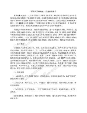 公安机关双随机一公开自查报告.docx