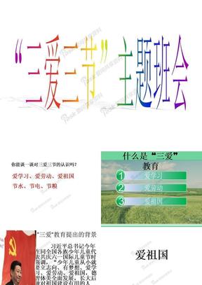 小学《三爱三节》主题班会课件.ppt