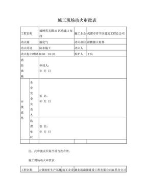 施工现场动火审批表.doc
